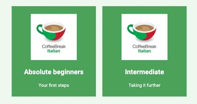 review-coffee-break-italiano-podcast-learning-italian-beginning-intermediate
